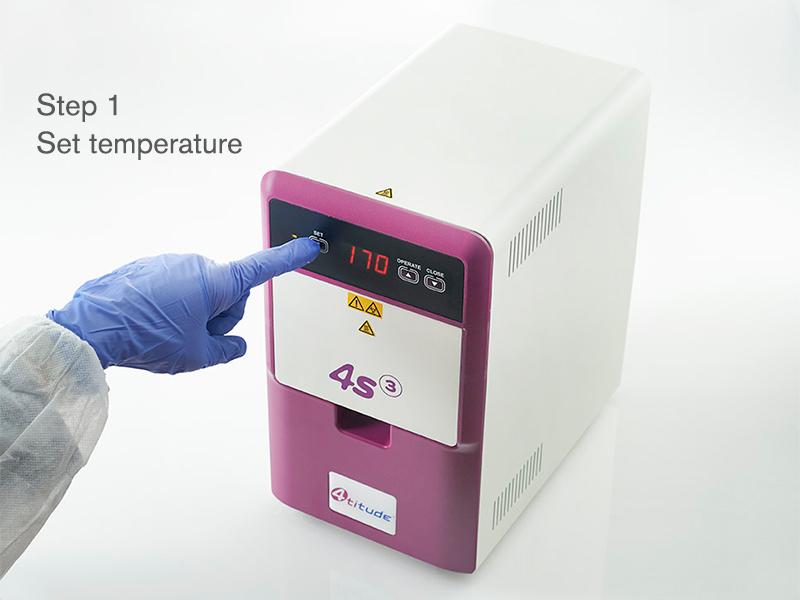 4ti-0655 | 4s3™ Semi-Automatic Sheet Heat Sealer | Operation: Step 1