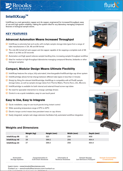 IntelliXcap™ Product Flyer