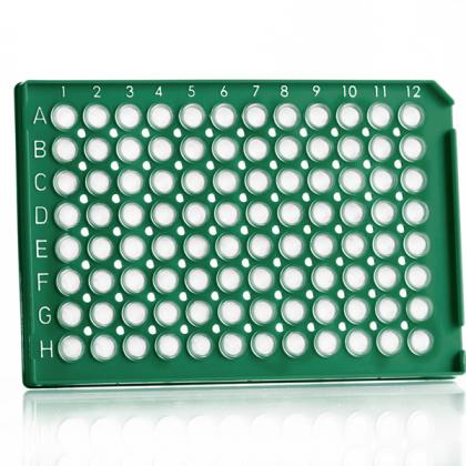 4ti-0730/G   FrameStar® 96 Well Semi-Skirted PCR Plate With Upstand, ABI® Style   Front