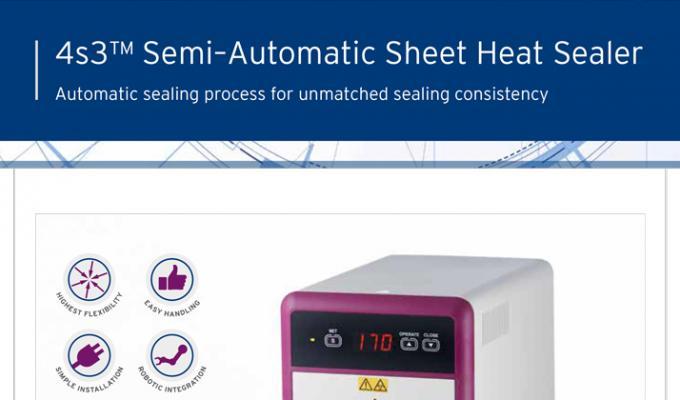 4s3™ Semi-Automatic Sheet Heat Sealer Flyer