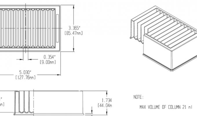 Reservoir Plate, Square Channels Technical Drawing