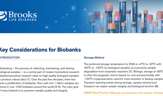 Key Considerations for Biobanks